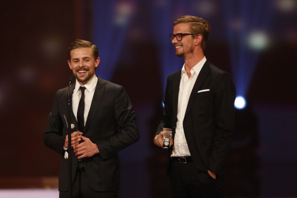COLOGNE, GERMANY - OCTOBER 02:  Joko Winterscheidt and Klaas Heufer-Umlauf attend the German TV Award 2012 (Deutscher Fernseh