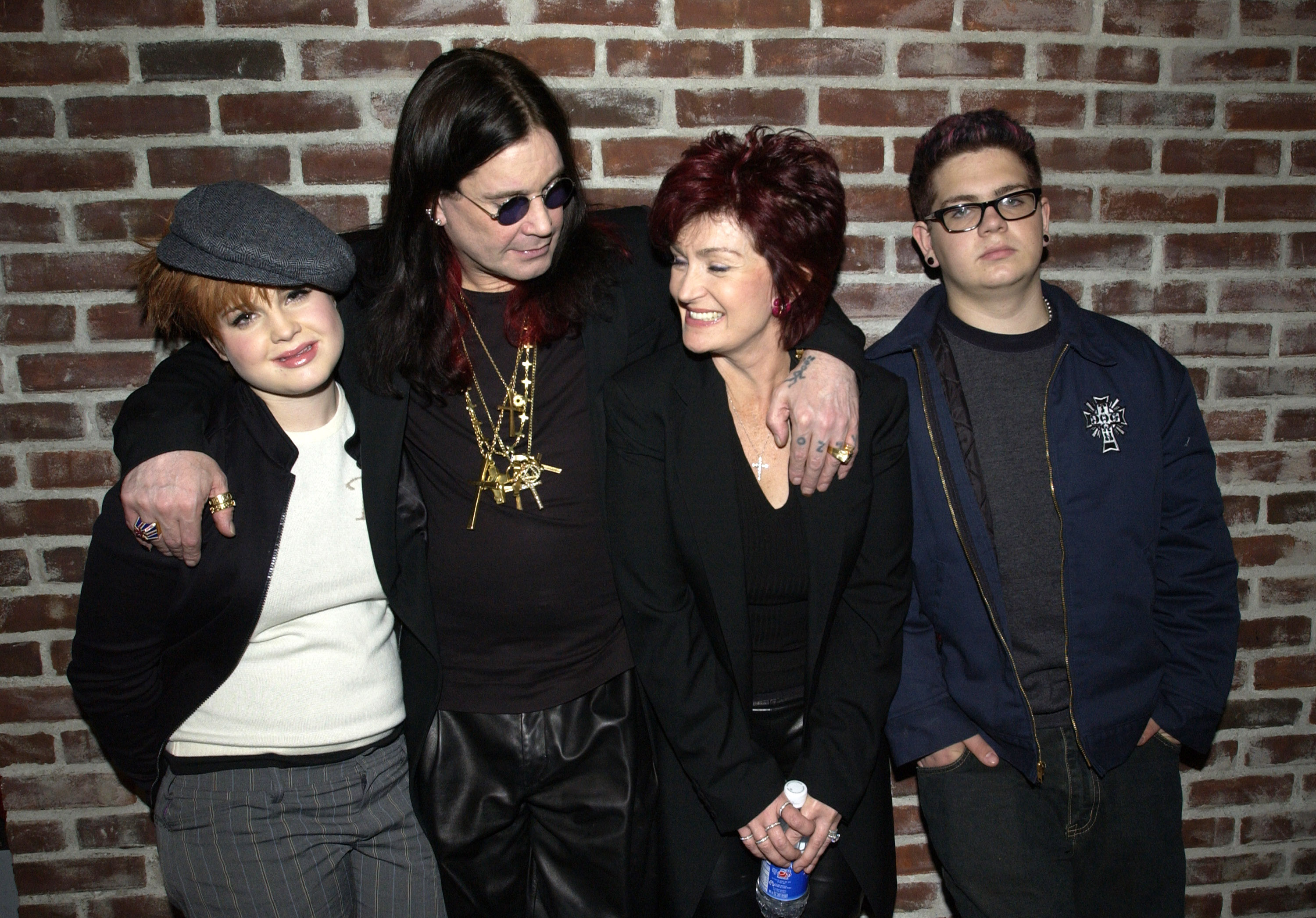 The Osbournes: Kelly Osbourne, Ozzy Osbourne, Sharon Osbourne and Jack Osbourne (Photo by KMazur/WireImage)