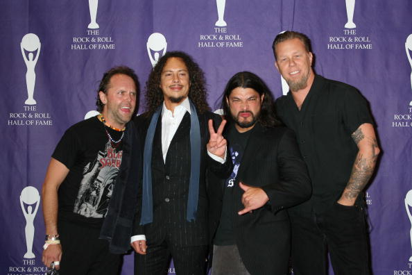 UNITED STATES - MARCH 13:  Photo of METALLICA; March 13, 2006 -21st Annual Rock and Roll Hall of Fame Induction Ceremony at t