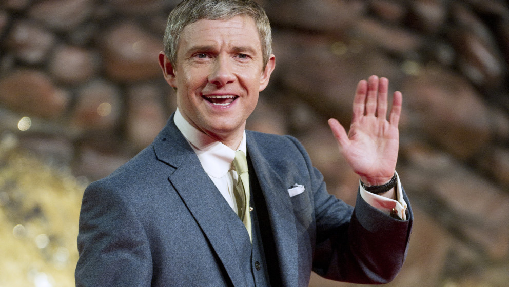 BERLIN, GERMANY - DECEMBER 09:  Martin Freeman attends the German premiere of the film 'The Hobbit: The Desolation Of Smaug'