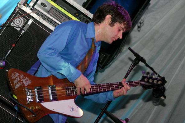 Jim O'Rourke of Sonic Youth during Sonic Youth Live in Concert - August 14, 2004 at Avalon Ballroom in Boston, Massachusetts,