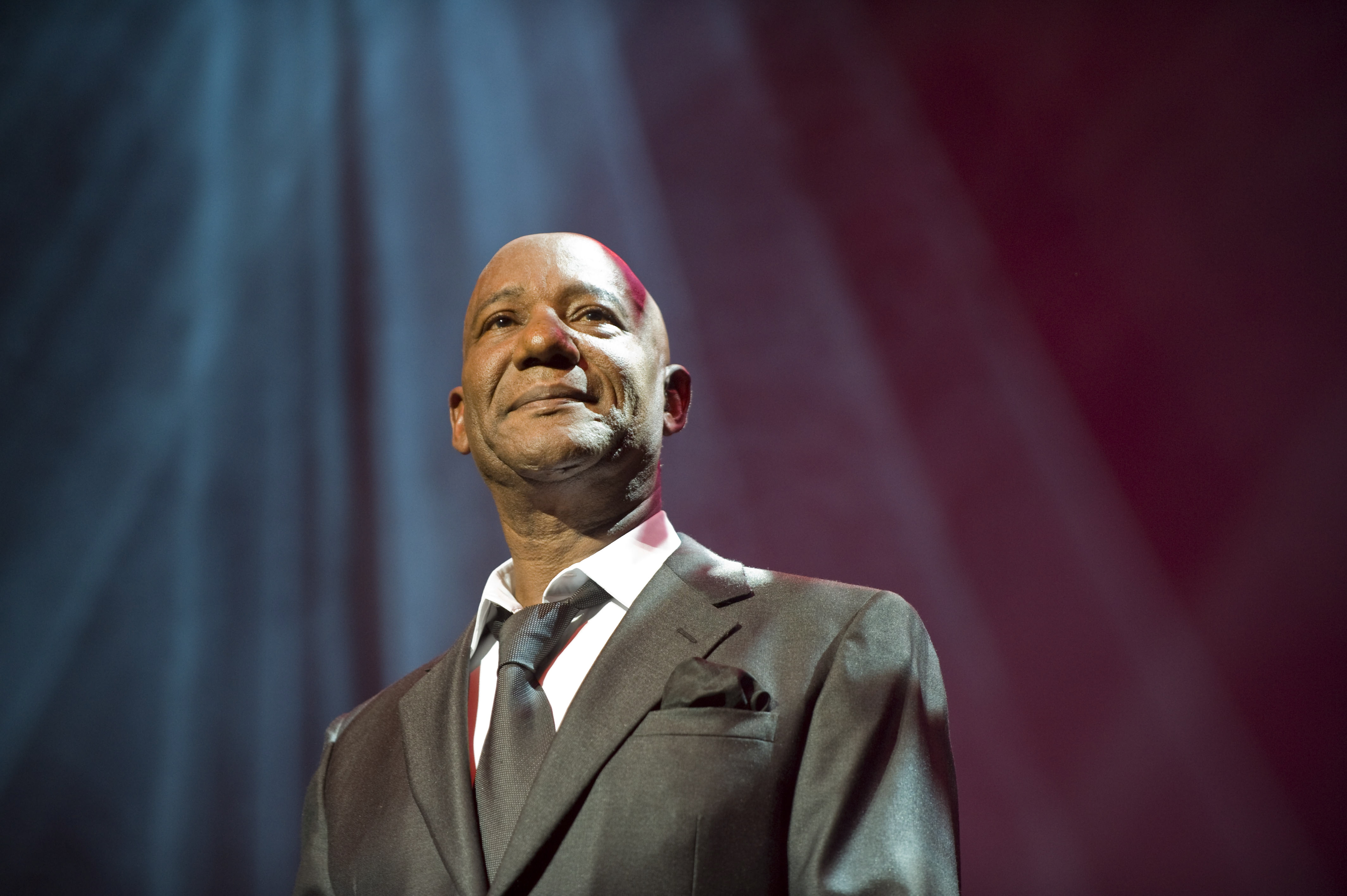LONDON - FEBRUARY 13: Singer Errol Brown performs on stage during his farewell tour at the Indig02 on February 13, 2009 in Lo