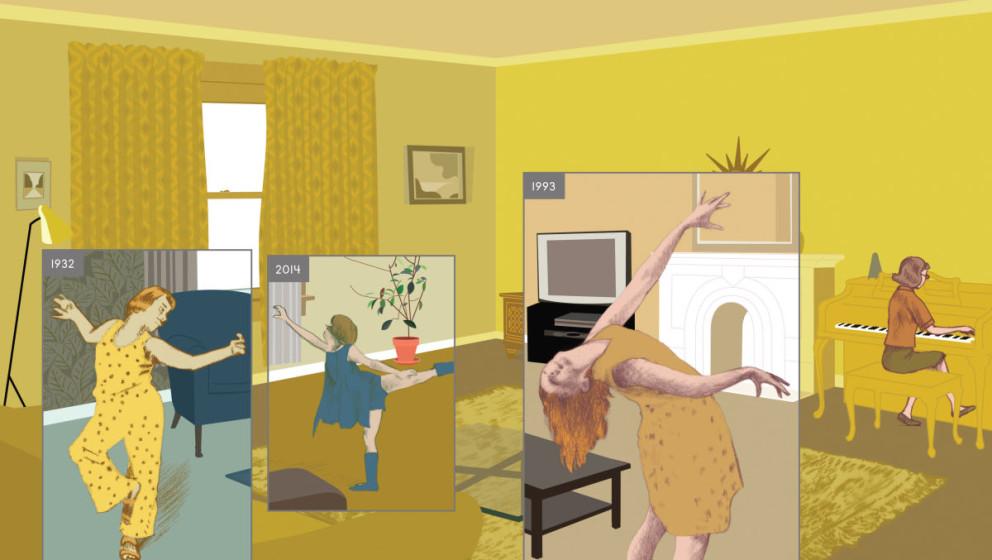 Vier Jahre, ein Bild - Panel aus Richard McGuires 'Here'