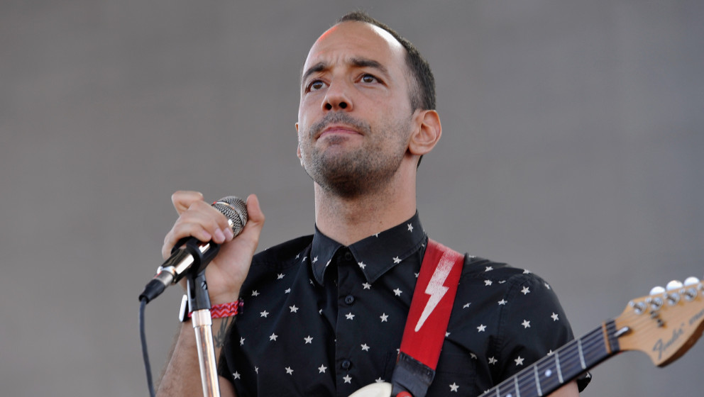 LOS ANGELES, CA - AUGUST 23:  Musician Albert Hammond Jr. performs during Day 1 of FYF Fest 2014  at LA Sports Arena & Ex