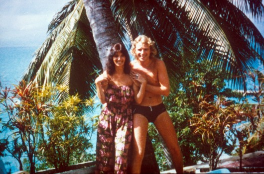 Thea und Thomas Gottschalk 1983 (Photo by Peter Bischoff/Getty Images)