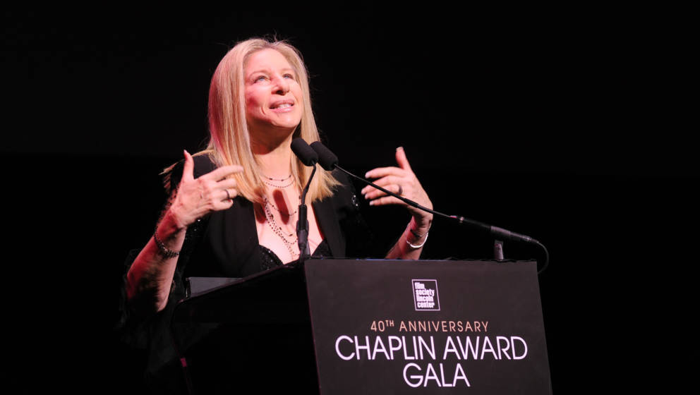 NEW YORK, NY - APRIL 22:  (EXCLUSIVE ACCESS SPECIAL RATES APPLY) Honoree Barbra Streisand speaks at the 40th Anniversary Chap