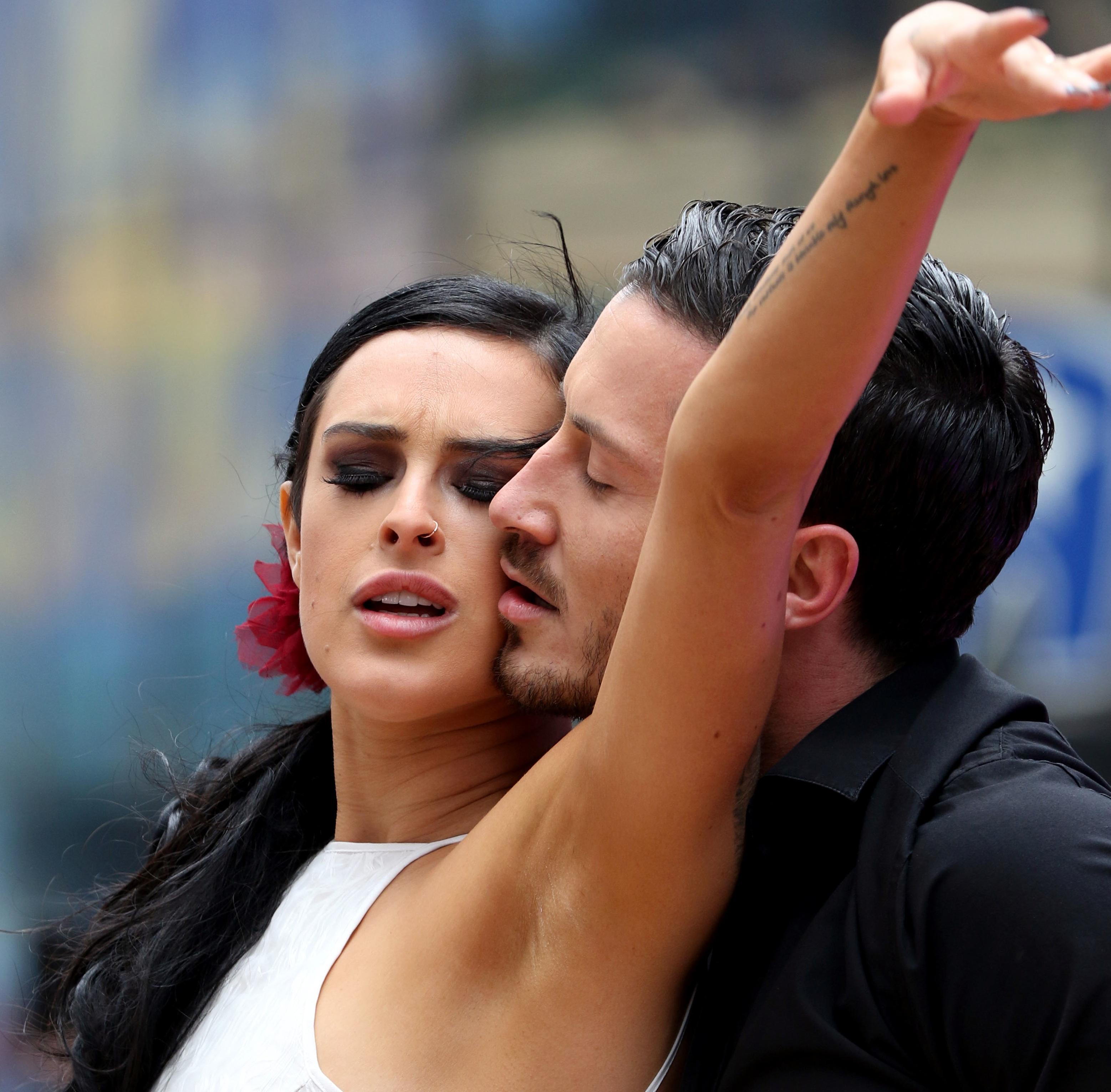 May 20, 2015 - New York City, NY, USA - Dancing with the Stars winners Valentin Chmerkovskiy (L) and Rumer Willis perform at