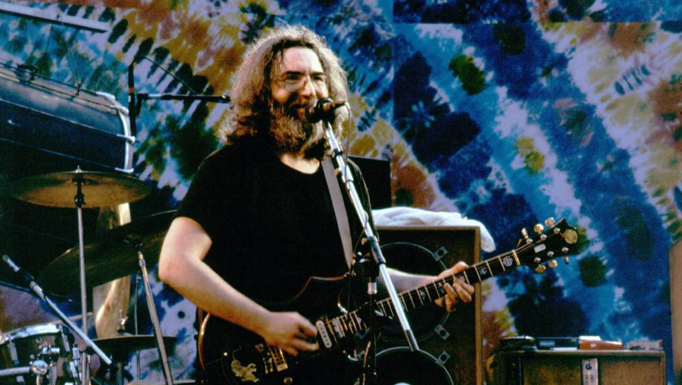 Berkeley - July 15:   Jerry Garcia with the Grateful Dead perform at the Greek Theater in Berkeley, California on July 15, 19