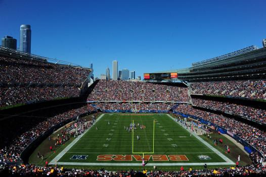 Das Soldier Field in Chicago während eines Football-Spiels (Photo by Scott Cunningham/Getty Images)