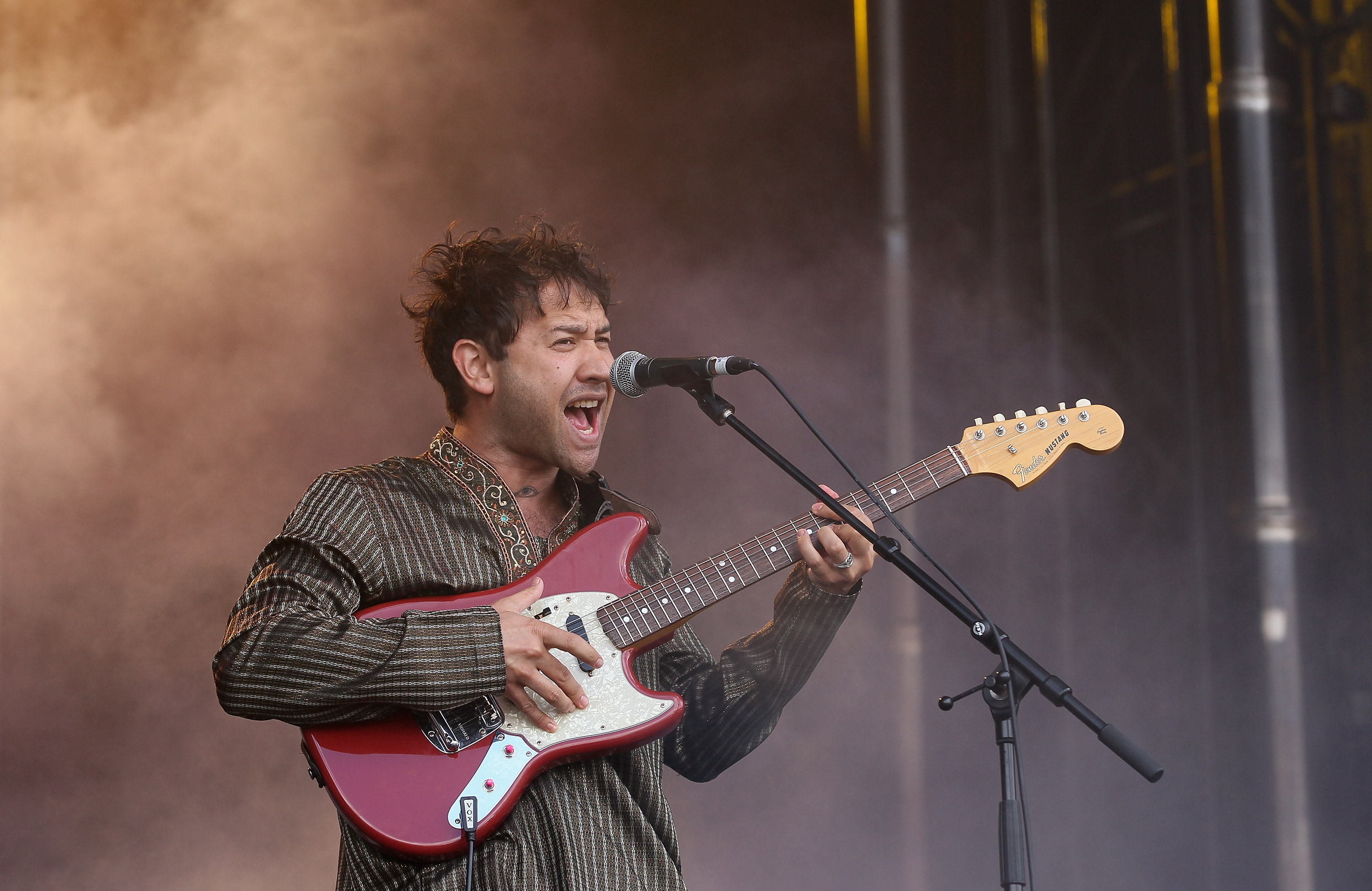 AUCKLAND, NEW ZEALAND - JANUARY 20:  Ruban Nielson of Unknown Mortal Orchestra performs on stage during Big Day Out at Mt Sma