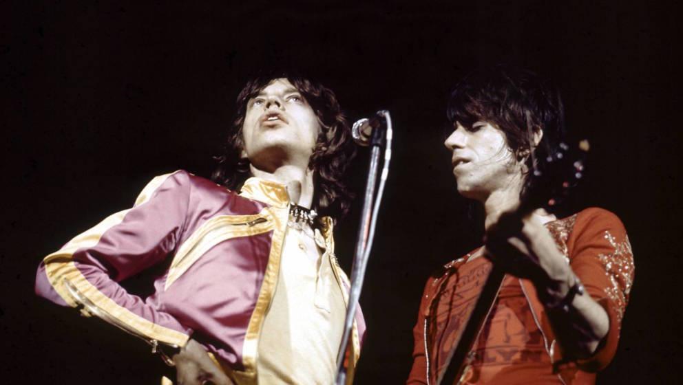 Mick Jagger und Keith Richards von den Rolling Stones 1971