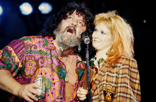 Captain Lou Albano Attends Cyndi Lauper In Concert - September 5, 1984