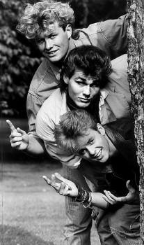 1985.  The Norwegian pop group A-Ha. From top: Magne Furuholmen, Morten Harket, and Paal Waaktaar. Photo: Knut Snare/Aftenposten/Scanpix Norway