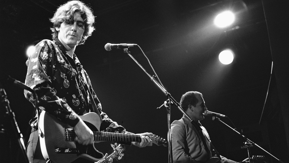AMSTERDAM, NETHERLANDS - 26th OCTOBER: Robert Forster (left) and Grant McLennan (right) from The Go-Betweens perform at the M