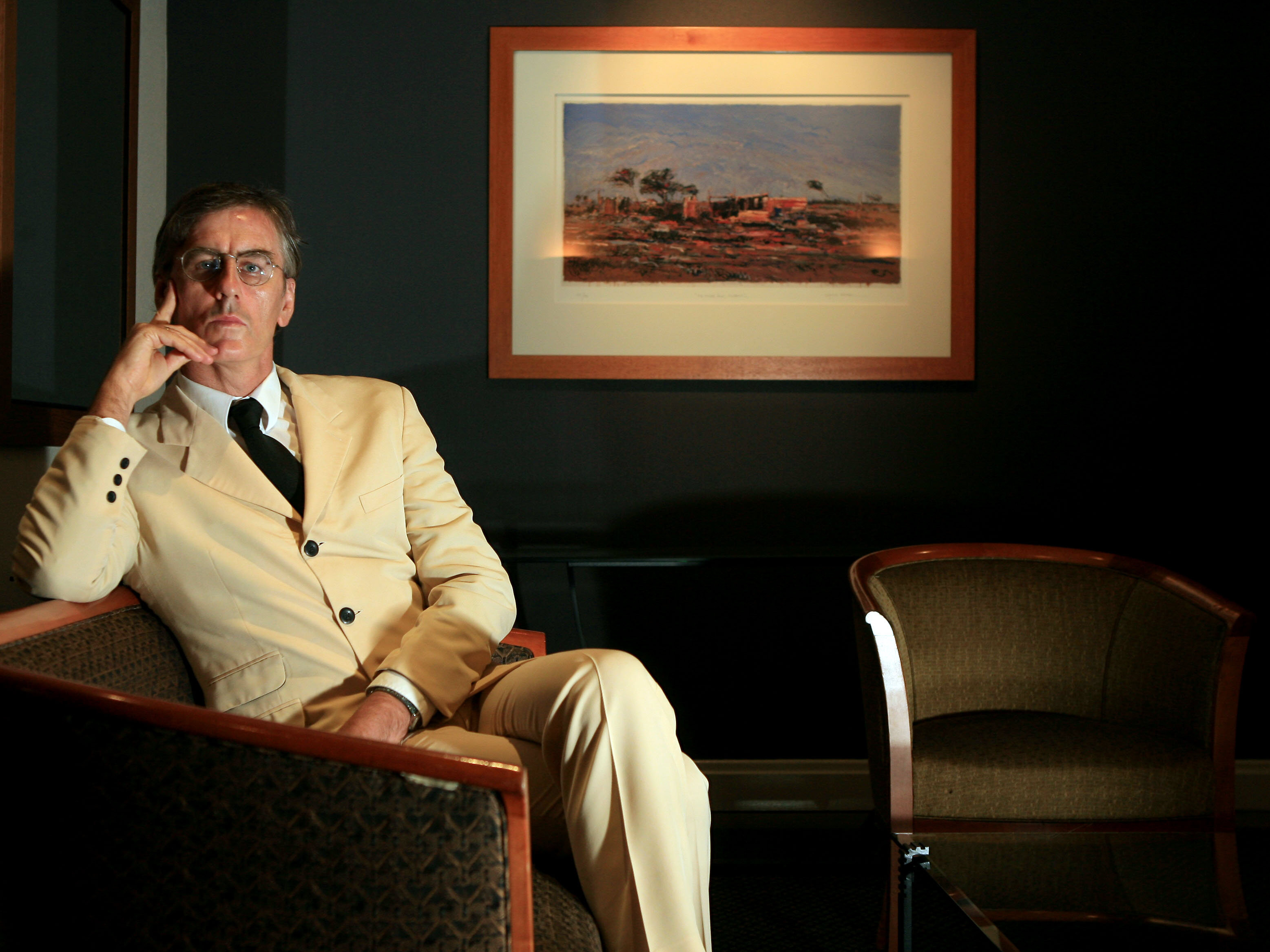 (AUSTRALIA & NEW ZEALAND OUT) Music critic Robert Forster, winner of the Pascall Prize for Criticism, in the lobby of a S