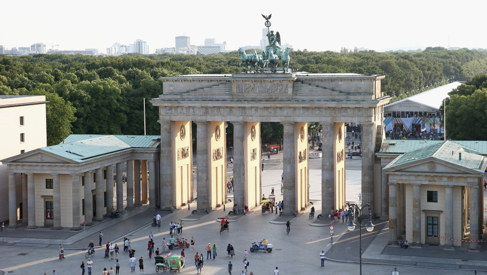 BERLIN, GERMANY - JULY 05:  The Brandenburg Gate at Pariser Platz photographed during the Designers Get Together at Dachresid