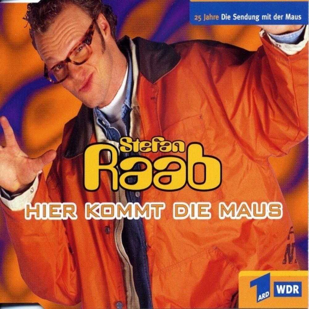 'Hier kommt die Maus', 1996. Die Kinderserie 'Die Sendung mit der Maus' erhielt durch Raab eine respektable, freundliche Homm
