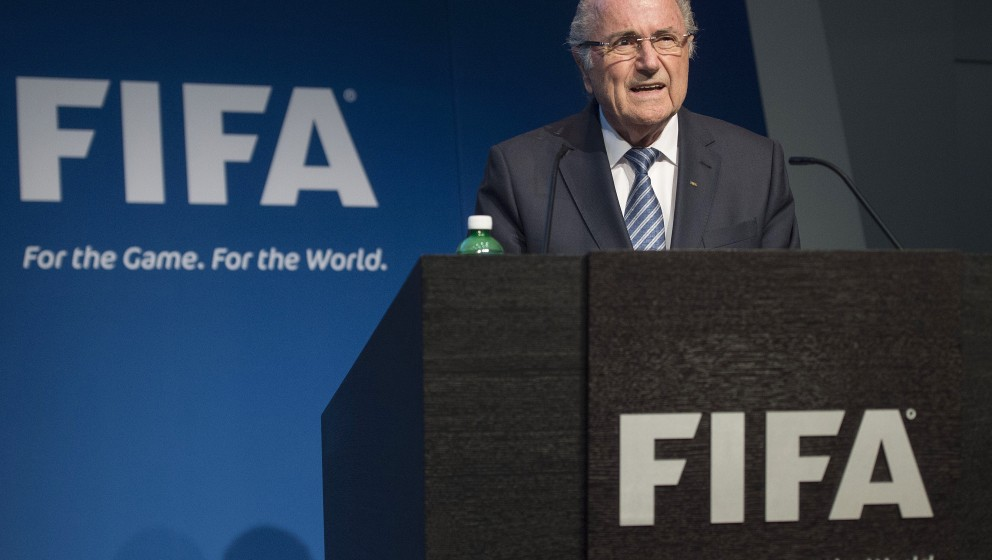 FIFA President Sepp Blatter speaks during a press conference at the headquarters of the world's football governing body in Zu