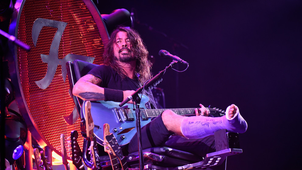 performs onstage during the Foo Fighters 20th Anniversary Blowout at RFK Stadium on July 4, 2015 in Washington, DC.