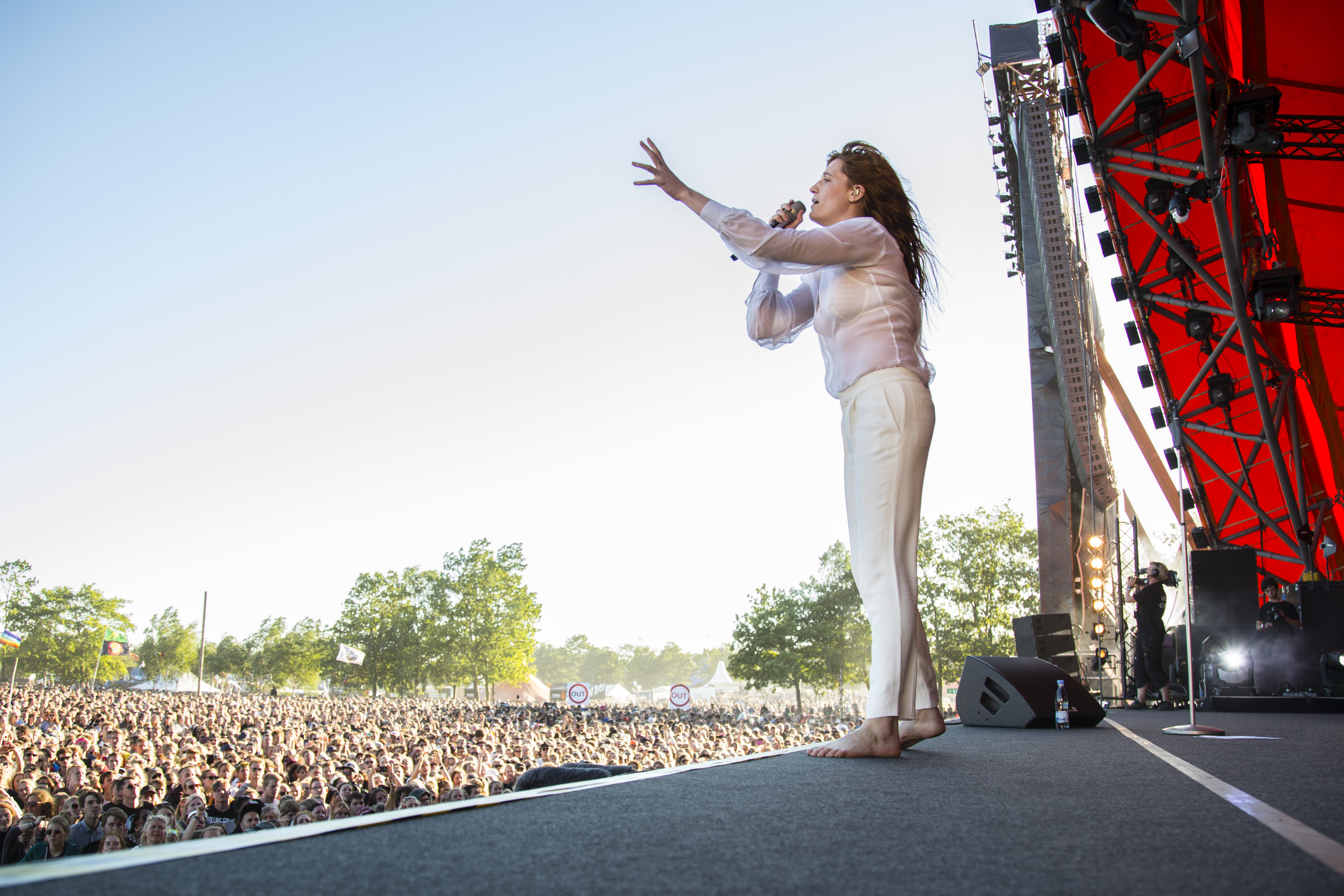 ROSKILDE, DENMARK - JULY 02:  Florence Welch from Florence and the Machine performs at Roskilde Festival on July 2, 2015 in R