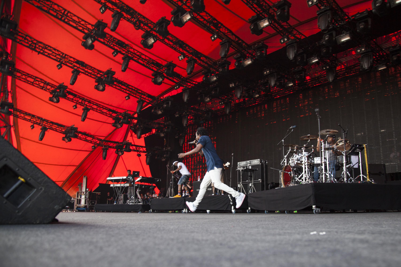 ROSKILDE, DENMARK - JULY 03:  Kendrick Lamar performs at Roskilde Festival  on July 3, 2015 in Roskilde, Denmark.  (Photo by