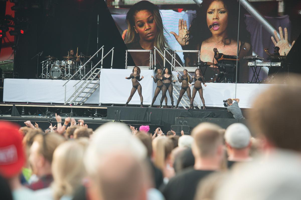 Nicki Minaj live beim Roskilde Festival 2015