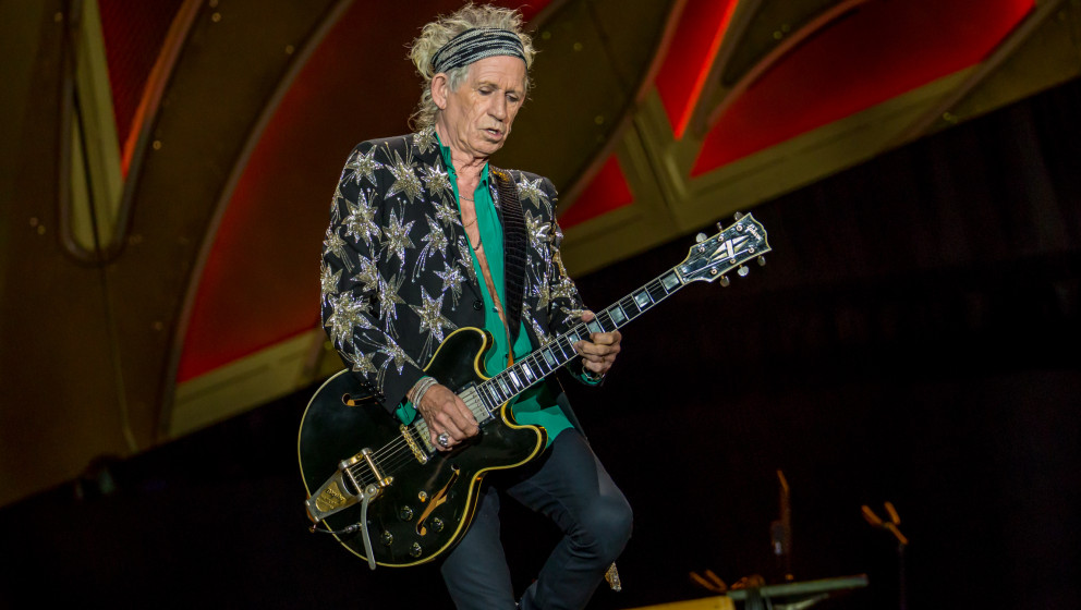 July 8, 2015 - Detroit, Michigan, U.S - KEITH RICHARDS of THE ROLLING STONES performs on the Zip Code Tour at Comerica Park i