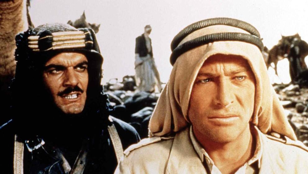 Lawrence Of Arabia  (1962) Omar Sharif, Peter O'Toole   Sherif Ali Ibn El Kharish (Omar Sharif) beraet sich mit T.E. Lawrence