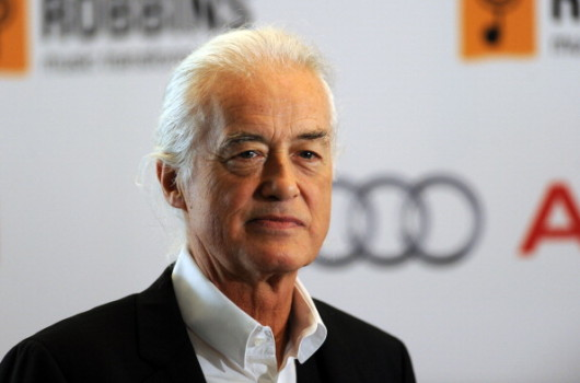 Not amused: Jimmy Page
