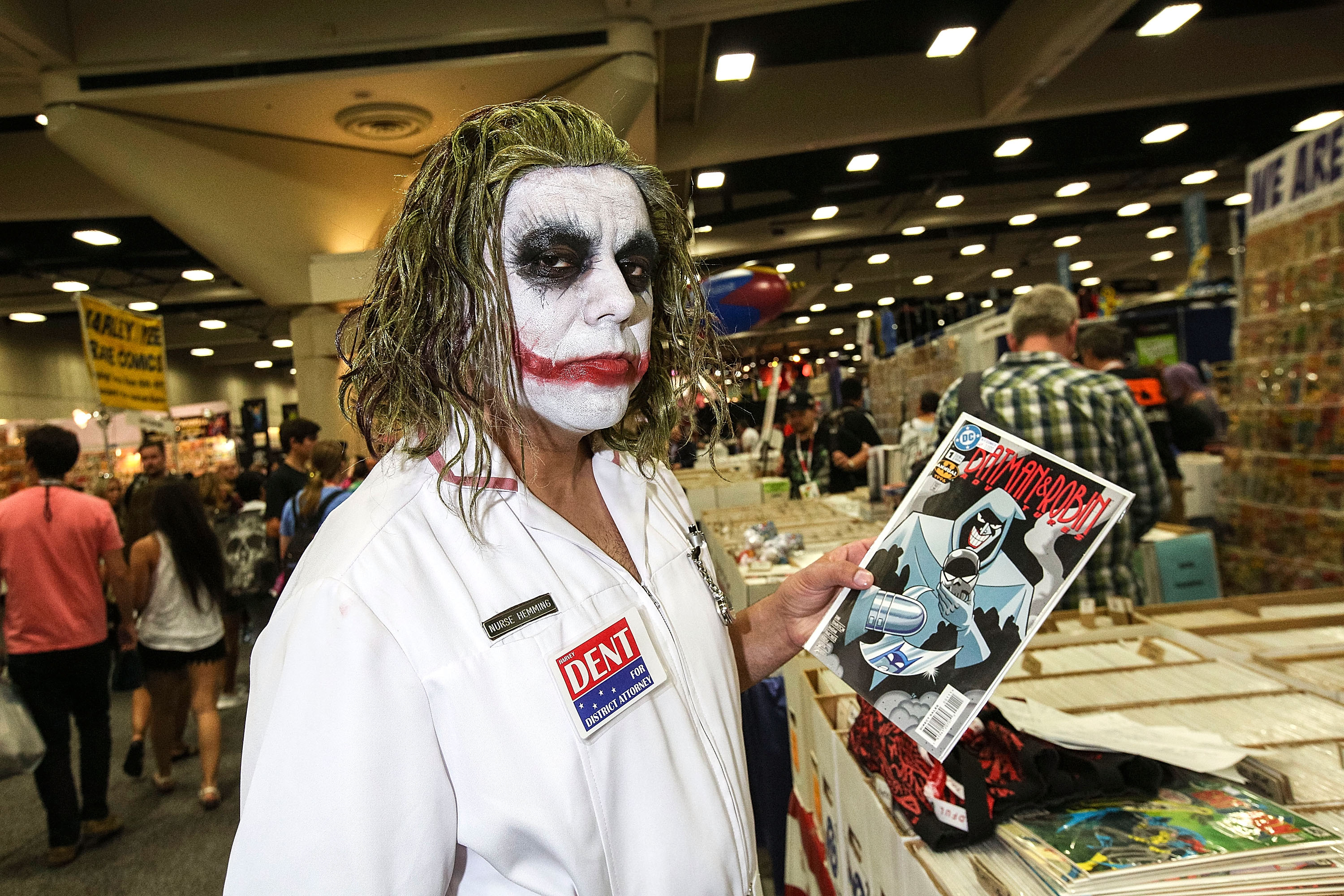 SAN DIEGO, CA - JULY 11:  A costumed fan attends Comic-Con International at San Diego Convention Center on July 11, 2015 in S