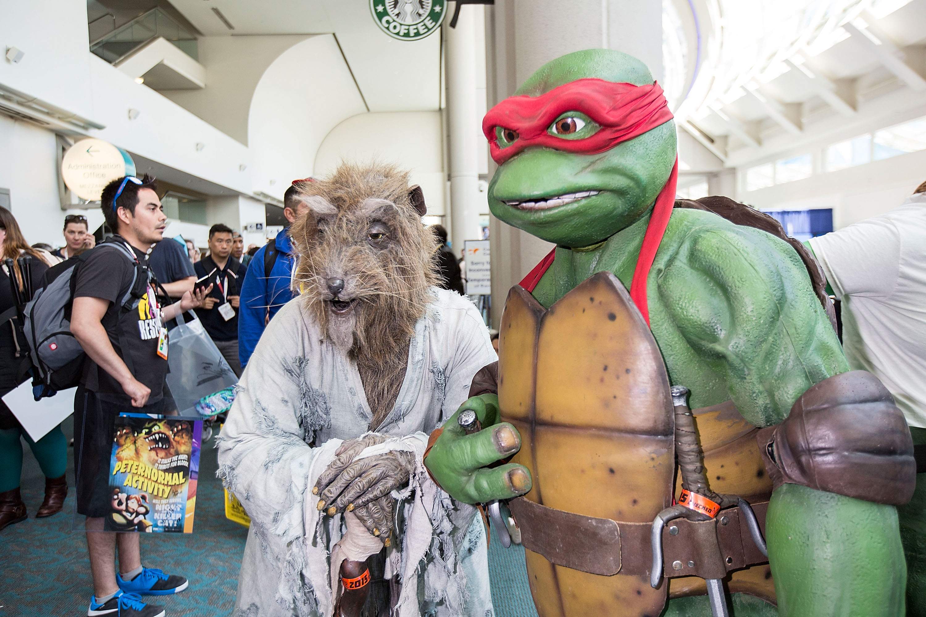 SAN DIEGO, CA - JULY 11:  Costumed fans attend Comic-Con International at San Diego Convention Center on July 11, 2015 in San