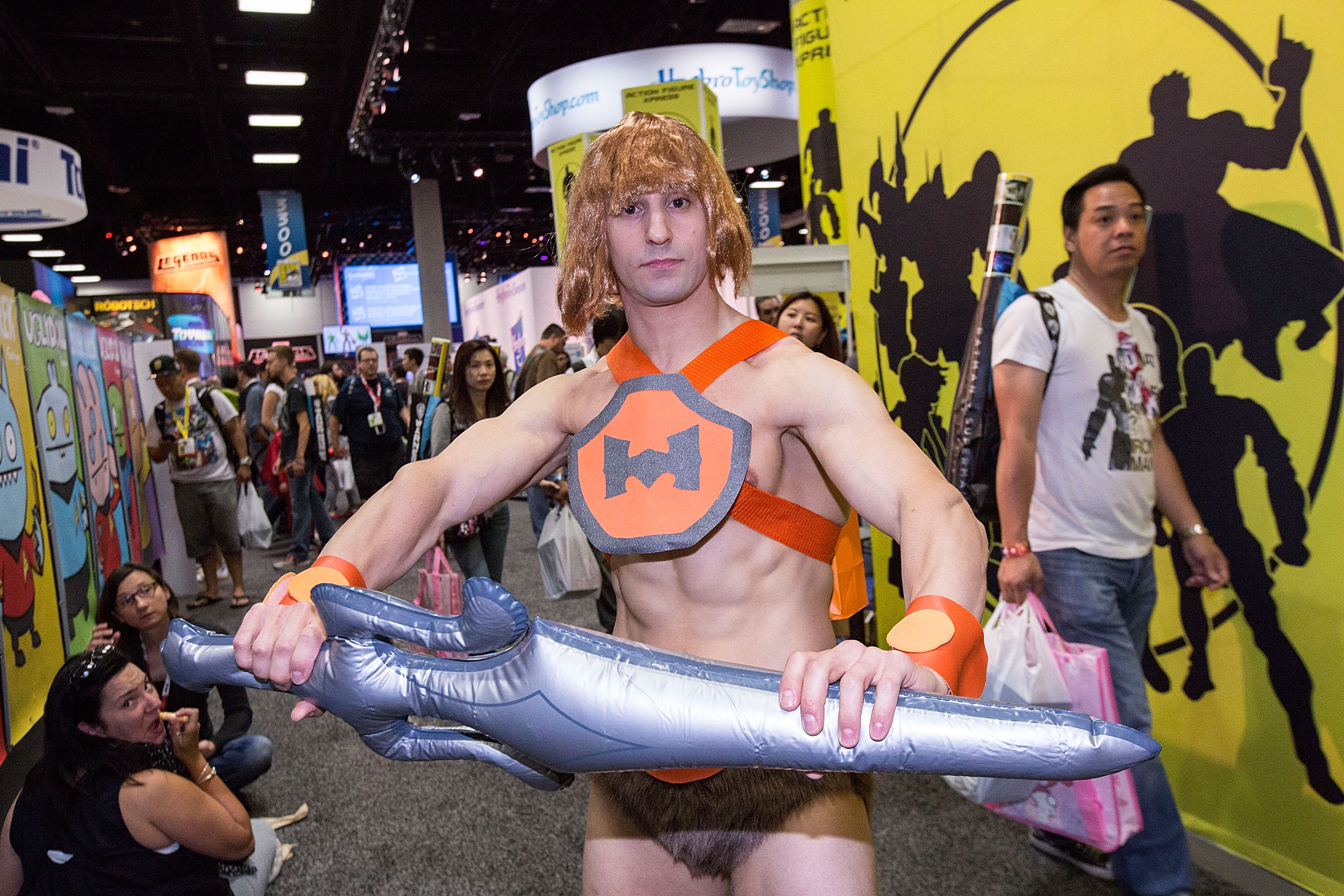SAN DIEGO, CA - JULY 12:  A costumed fan attends Comic-Con International at San Diego Convention Center on July 12, 2015 in S