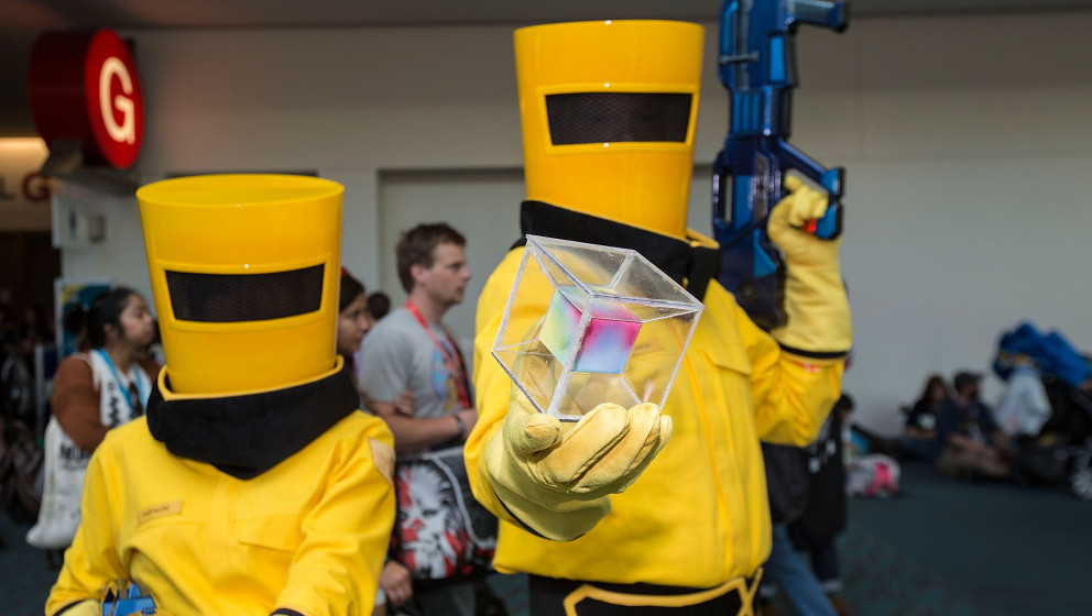 SAN DIEGO, CA - JULY 12:  Costumed fans attend Comic-Con International at San Diego Convention Center on July 12, 2015 in San