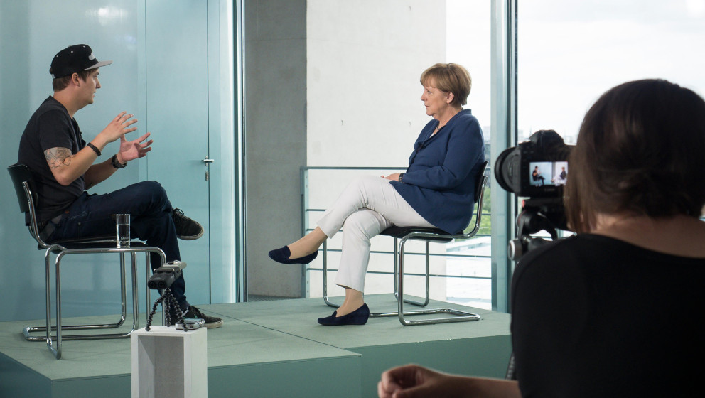 BERLIN, GERMANY - JULY 10: : In this photo provided by the German Government Press Office (BPA), German Chancellor Angela Mer