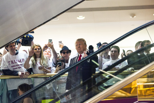 Der Tycoon in seinem Trump Tower (Photo by Christopher Gregory/Getty Images)