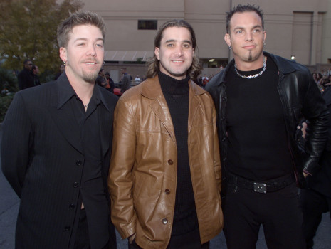 Musical group Creed poses for a photo at arrivals for the 2000 Billboard Music Awards at the MGM Grand Hotel and Casino, Las Vegas, NV, Tuesday, Dec.5, 2000. (Photo by Kevin Winter/Getty Images)