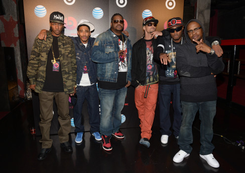 LOS ANGELES, CA - JANUARY 24:  Bone thugs-n-harmony attend the Beats Music Launch Party at Belasco Theatre on January 24, 2014 in Los Angeles, California.  (Photo by Jason Kempin/WireImage)