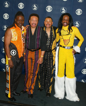 Performers Earth, Wind and Fire at the Staples Center in Los Angeles, California (Photo by Jeffrey Mayer/WireImage)