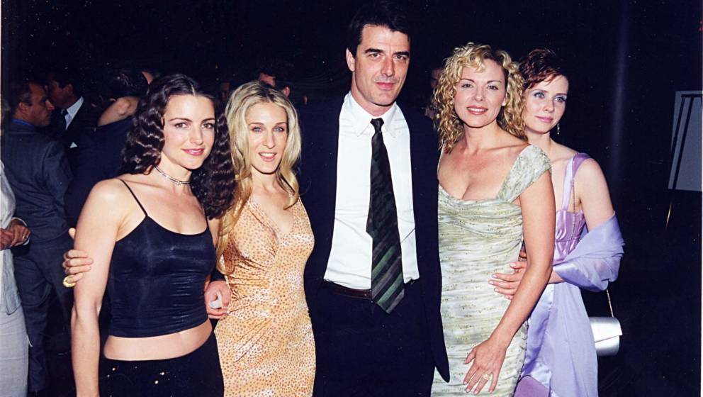 Kristin Davis, Sarah Jessica Parker, Chris Noth, Kim Cattrall & Cynthia Nixon at a party for Sex and the City in 1999 at