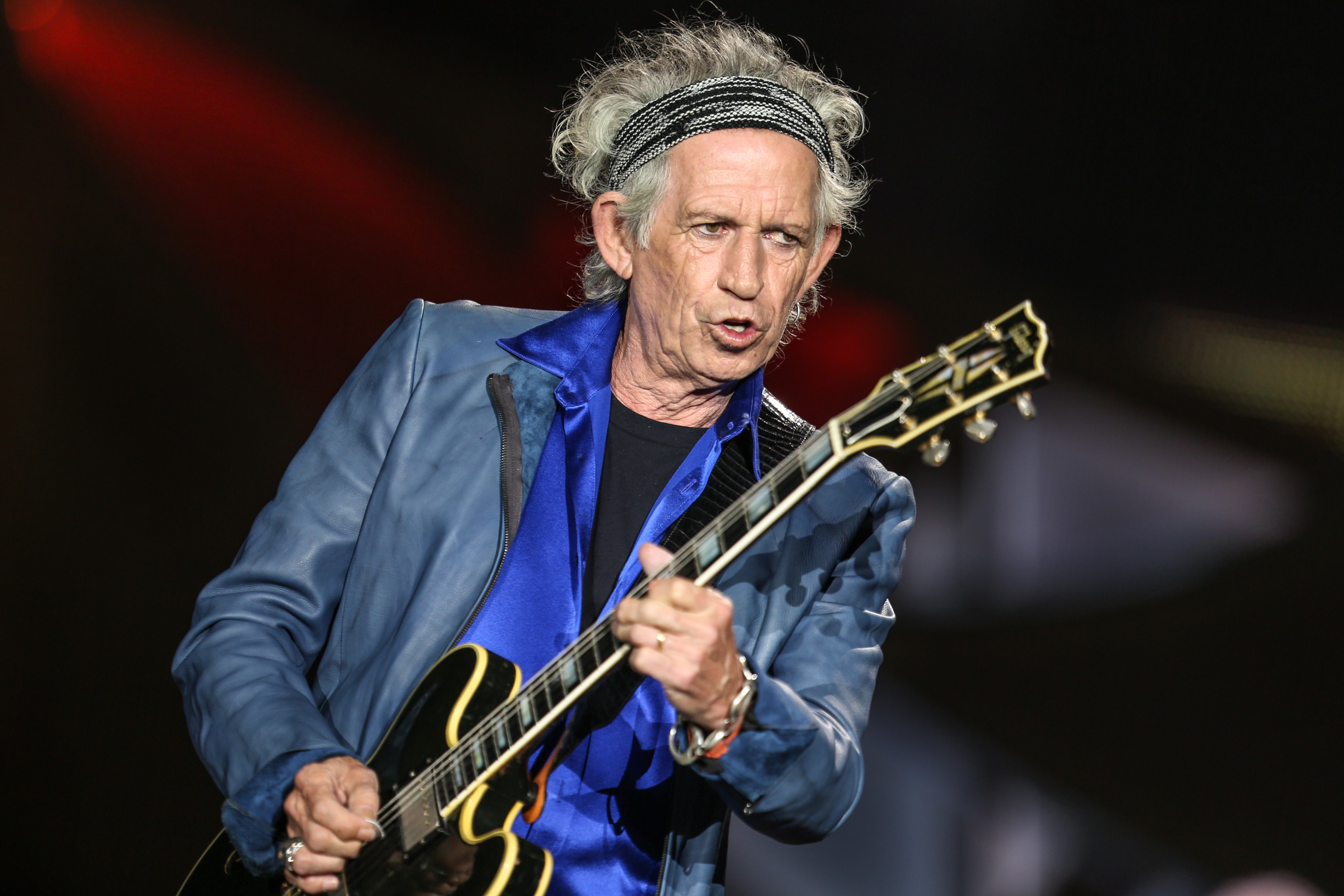 FILE - In this May 24, 2015 file photo, Keith Richards performs at The Rolling Stones Zip Code Tour opening night in San Dieg