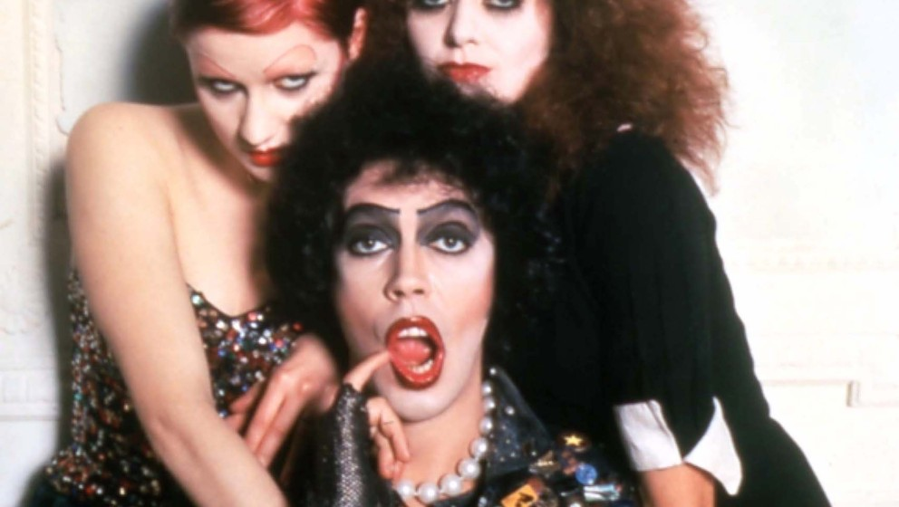 THE ROCKY HORROR PICTURE SHOW [BR / US 1975] NELL CAMPBELL aka LITTLE NELL, TIM CURRY as Dr Frank-N-Furter, PATRICIA QUINN TH