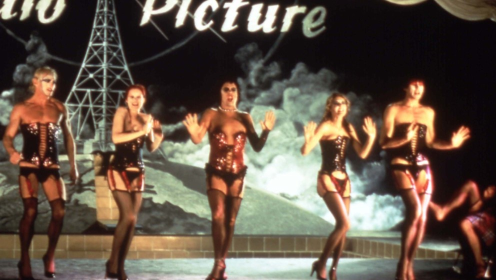 THE ROCKY HORROR PICTURE SHOW  [BR / US 1975]  PETER HINWOOD as Rocky [?], NELL CAMPBELL aka LITTLE NELL, TIM CURRY as Dr Fra