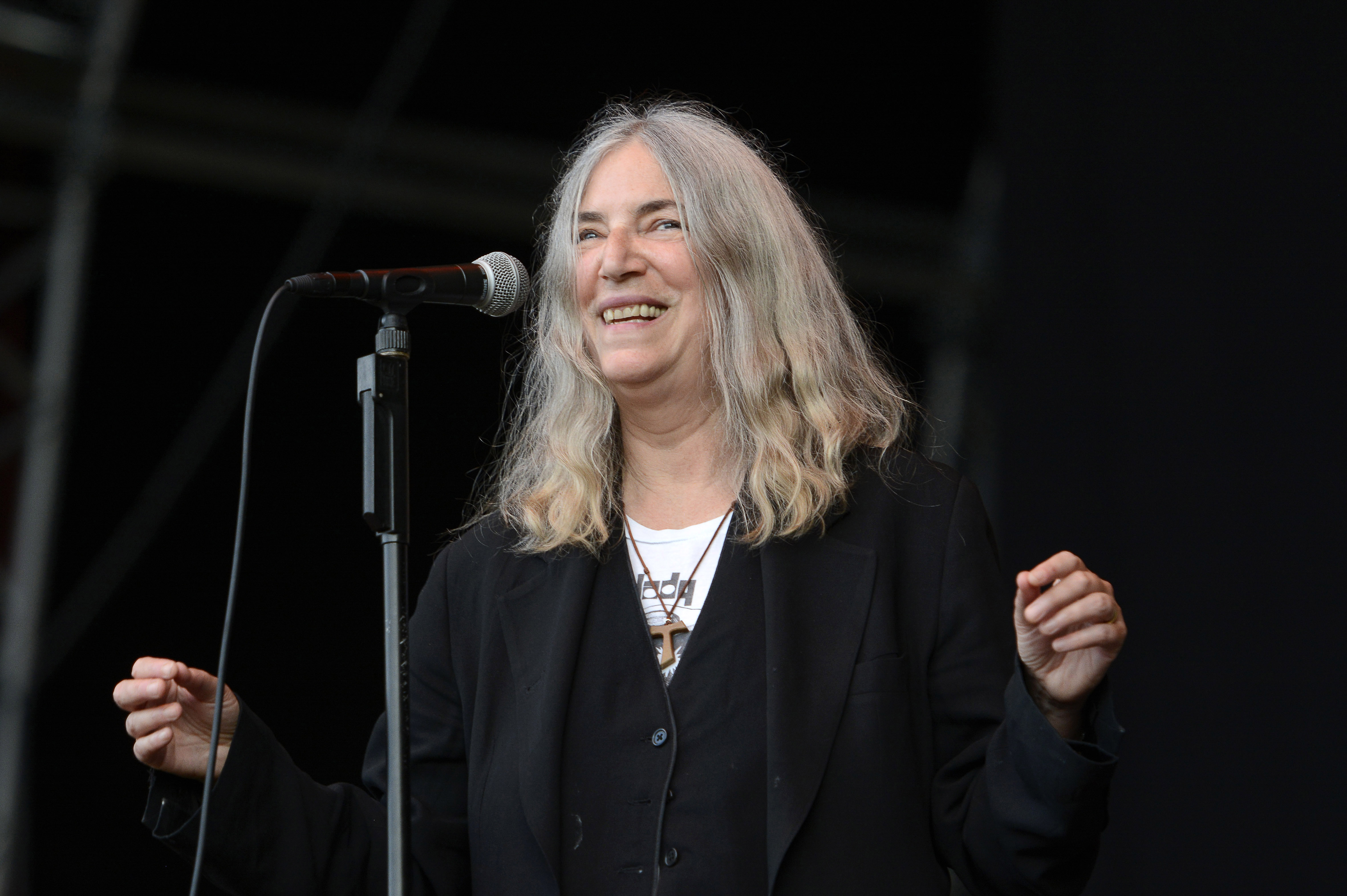 Patti Smith performs on 'A Summer's Tale Open Air Festival 2015' at Lüneburger Heide on August 7, 2015 in Luhmühlen.