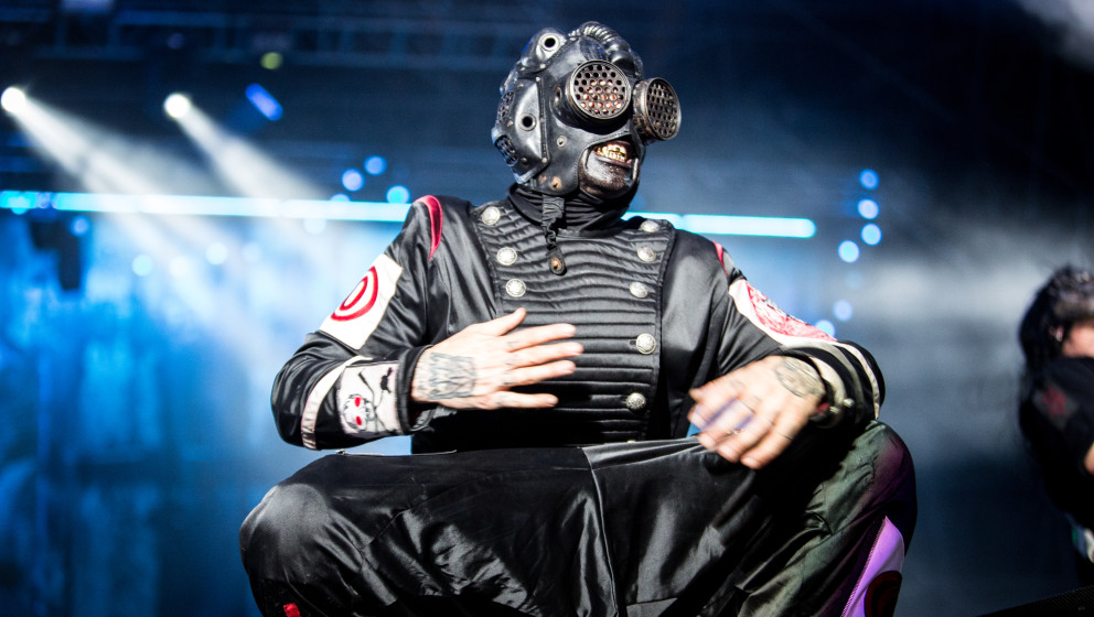 Craig Jones of Slipknot performs live at Ippodromo Capannelle. Slipknot is an American heavy metal band from Des Moines, Iowa