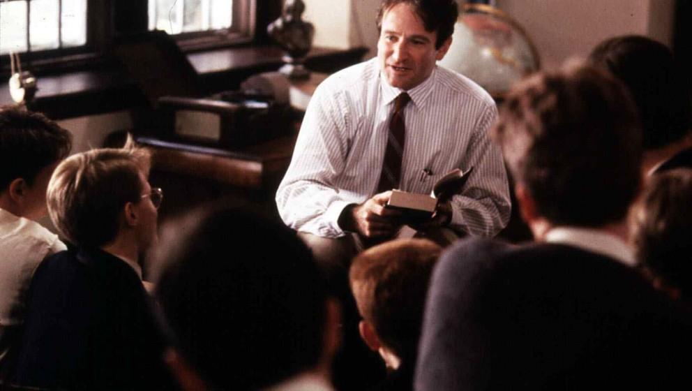 Dead Poets Society  (1989) Robin Williams   Mit Liebe und Passion versucht John Keating (Robin Williams) seine Schueler zu ve