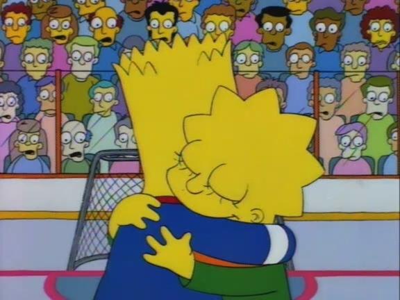 Geschwisterliebe -eine der vielen emotionalen Szenen bei 'The Simpsons'
