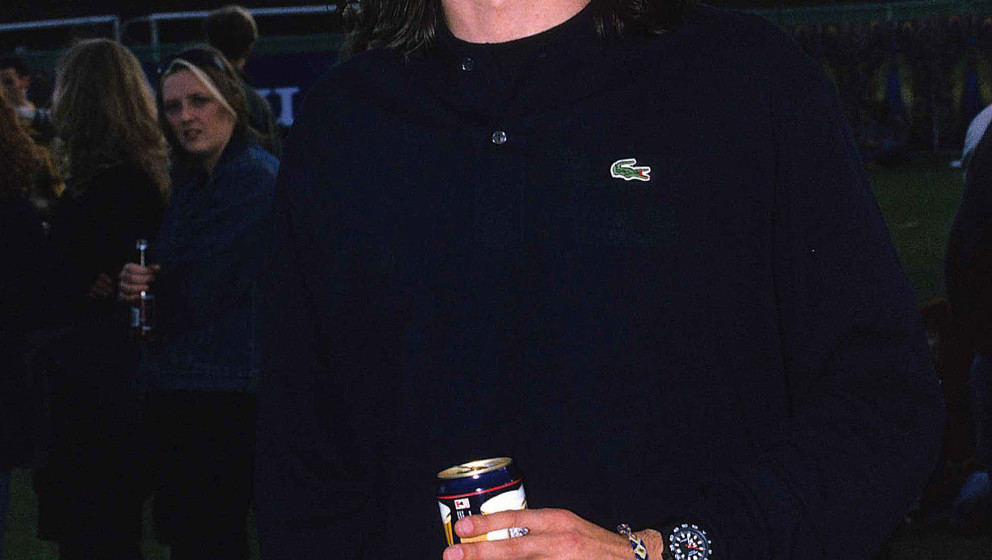 Foo Fighters singer Dave Grohl during Foo Fighers live at Brixton Academy - 1st Novemebr 1995 at Brixton Academy in London, U