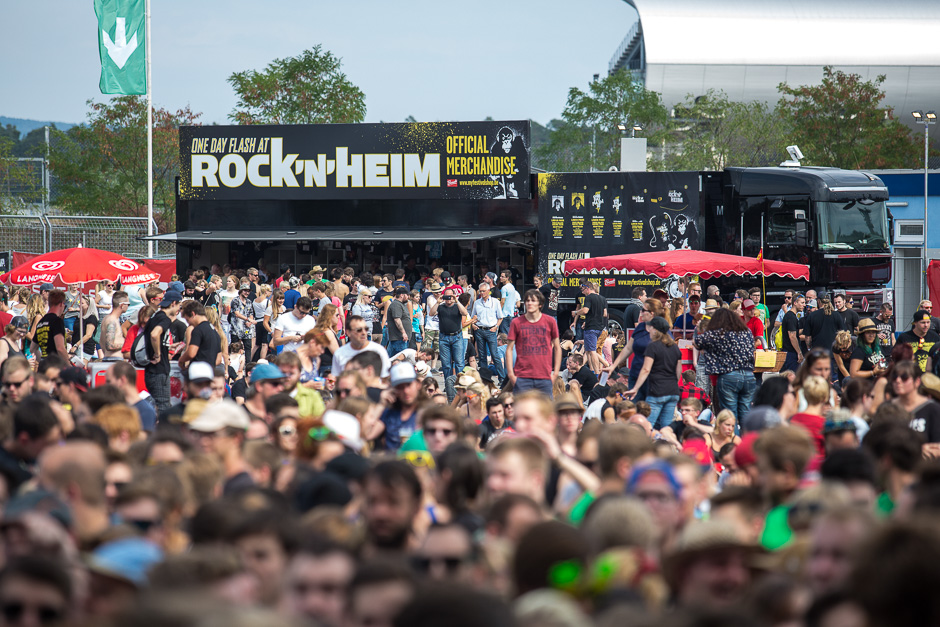 Zum dritten Mal überhaupt, zum ersten Mal nur an einem Tag: so sah es am Sonntag beim Rock'n'Heim Festival aus