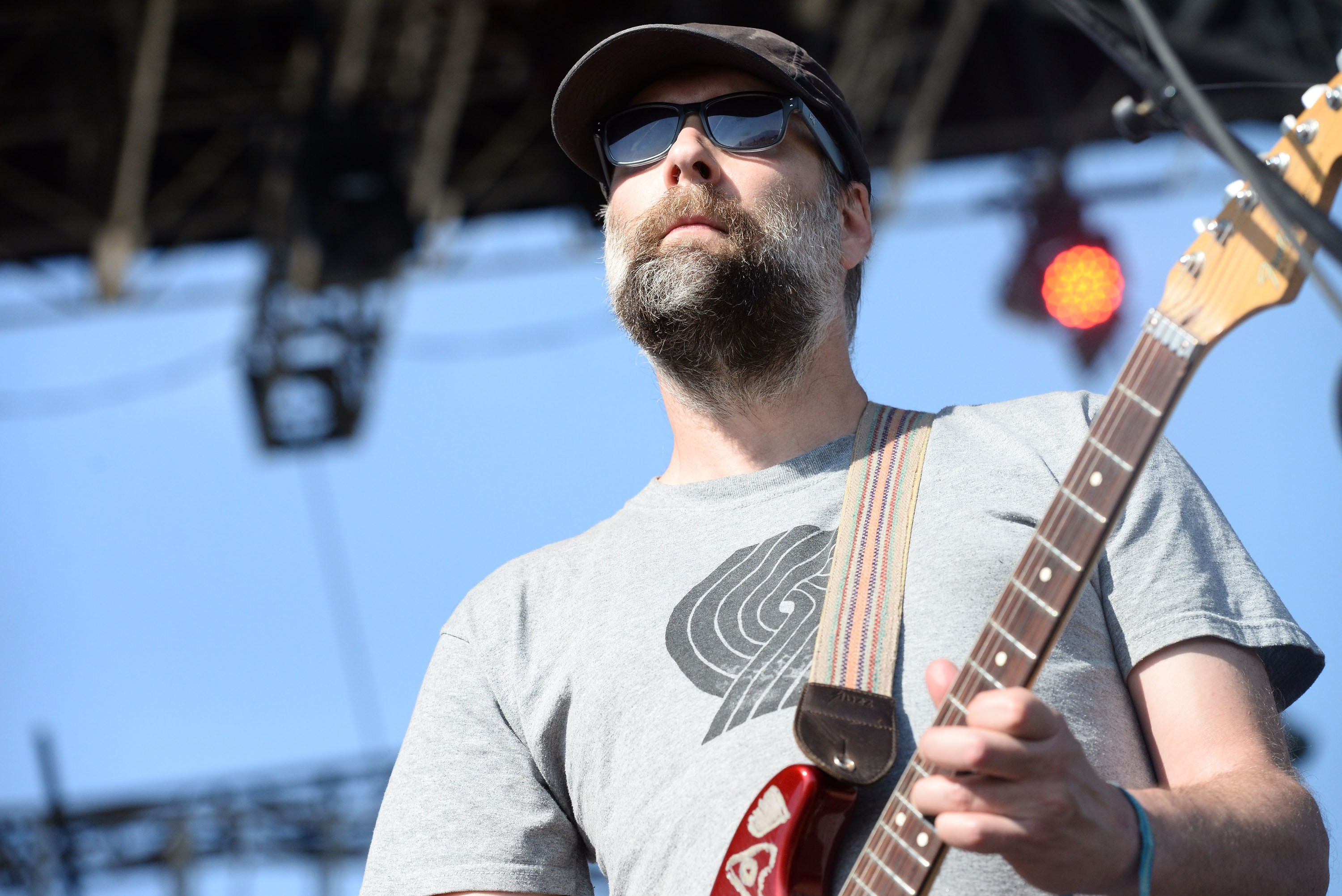 INDIO, CA - APRIL 19:  Singer Doug Martsch of Built to Spill performs onstage during day 2 of the Coachella Music Festival at