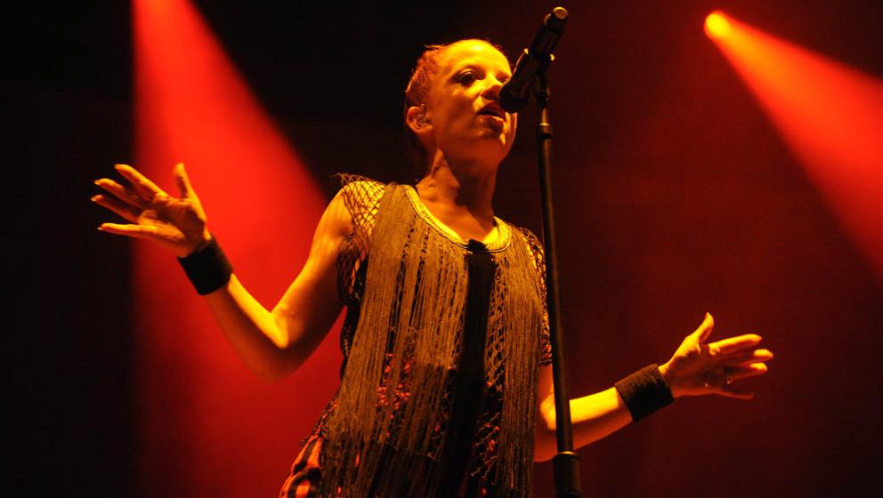 Garbage mit Saengerin Shirley Manson live beim Hurricane Festival 2012: Rock- und Alternative Open Air Festival in Scheessel